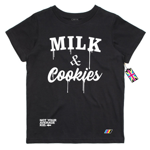 Milk & Cookies Black T Shirt