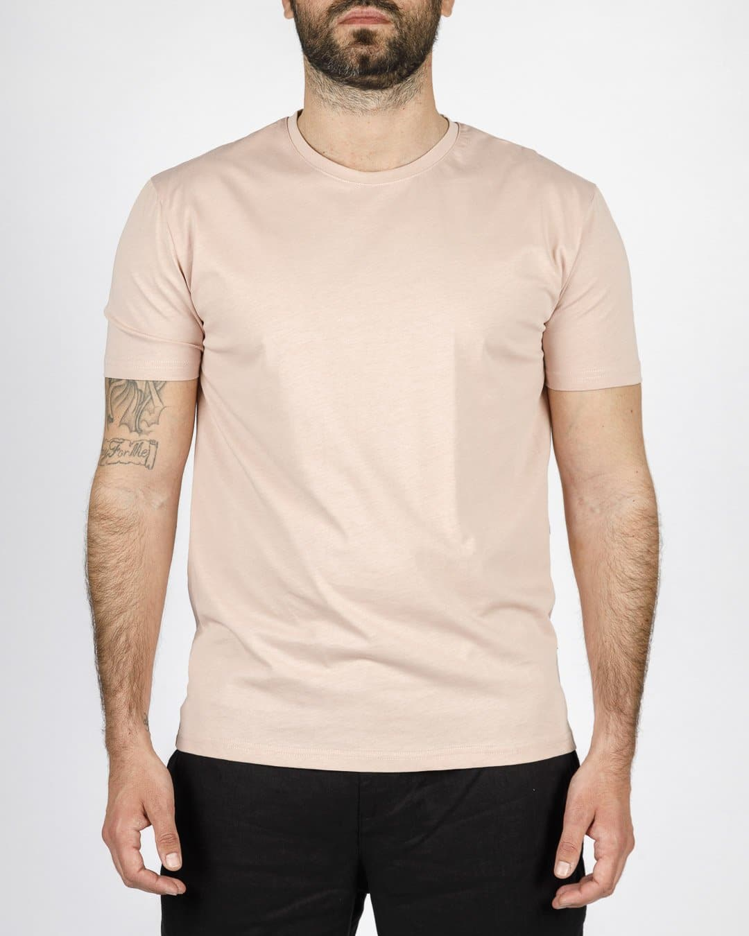 GIANNI LUPO EXTRA FINE COTTON T-SHIRT. ΧΡΩΜΑ ΠΑΣΤΕΛ ΡΟΖ.