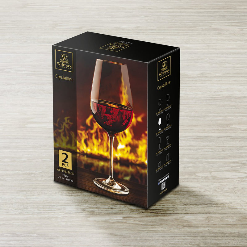 Wilmax Wine Glass 2 Pack 700ml