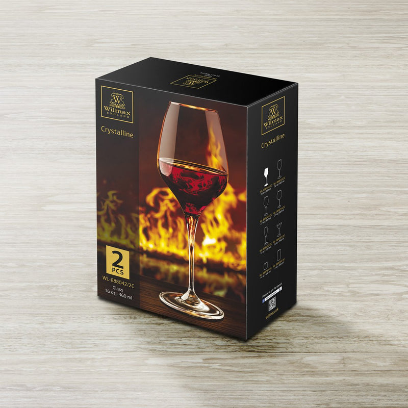 Wilmax Wine Glass 2 Pack 460ml