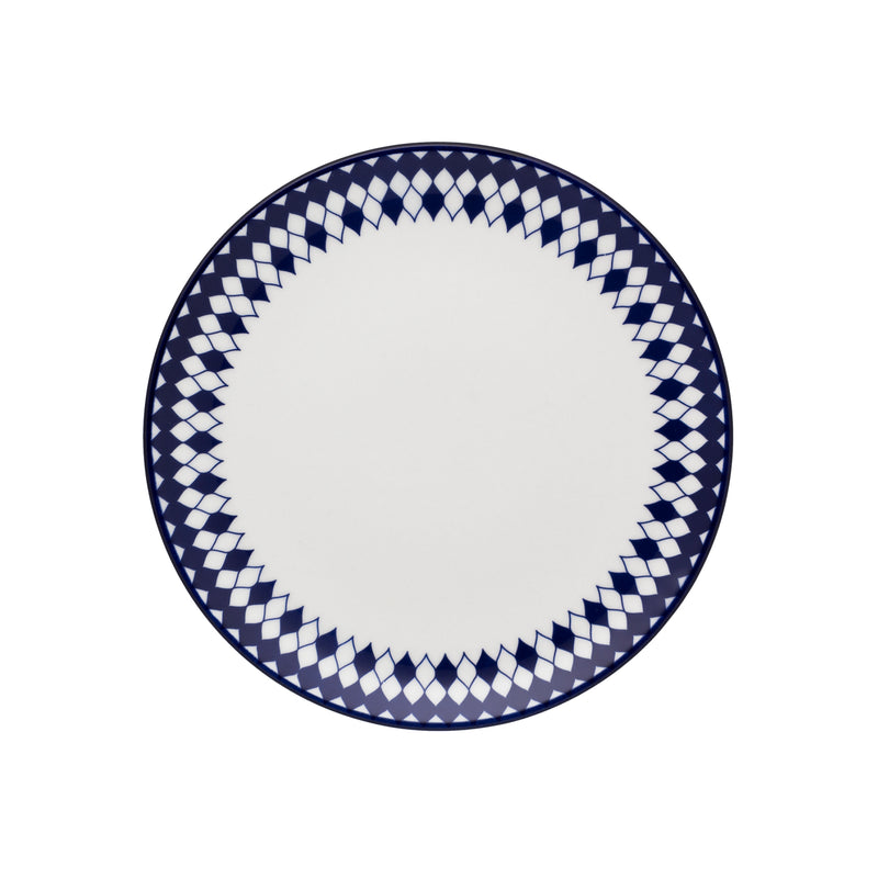 Oxford Dessert Plate Porcelain Blue/White