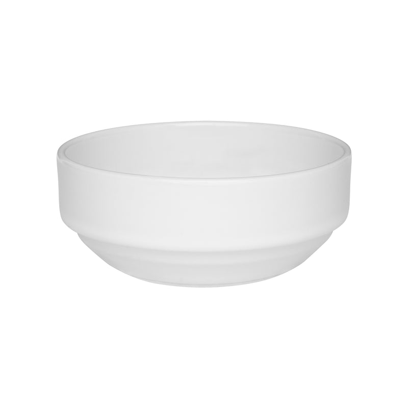Oxford Bowl Stackable Porcelain White Small