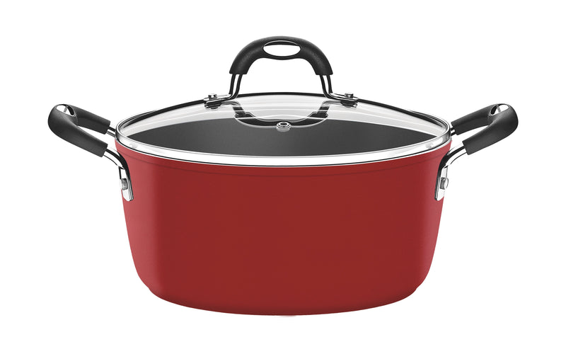 Monaco Casserole with Lid Red Medium