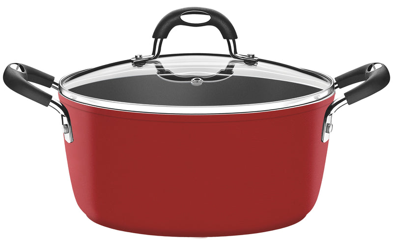 Monaco Casserole with Lid Red Large