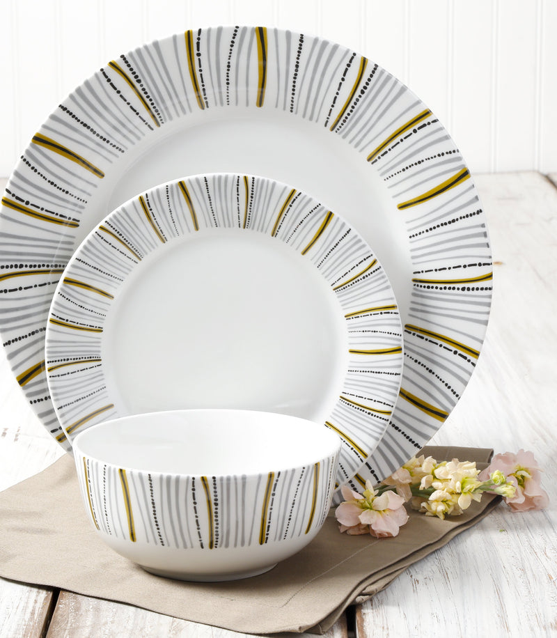 Classic Burst 12 pc Dinnerware Set