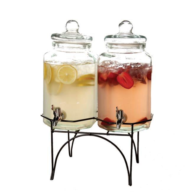 Party Duo Twin 1 Gallon Beverage Dispenser
