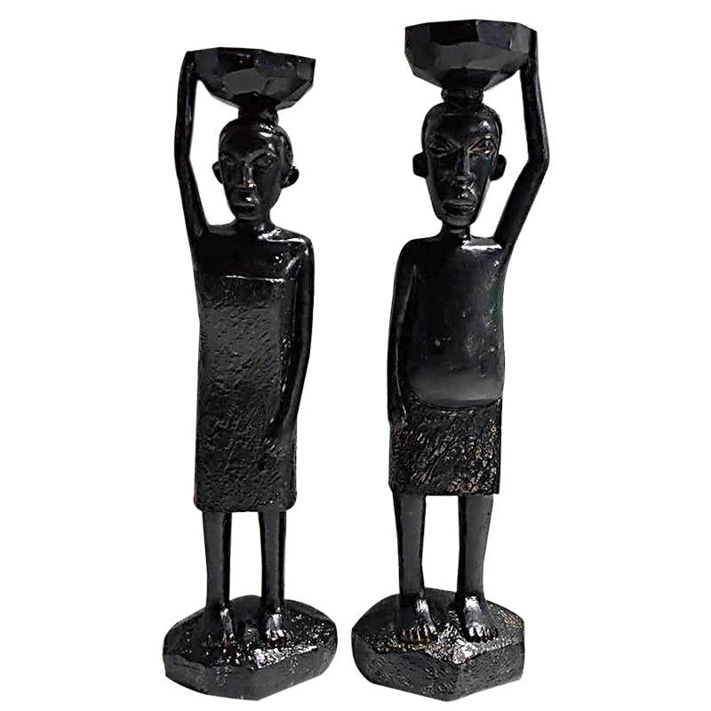 Zaire Sculpture Polyresin Black