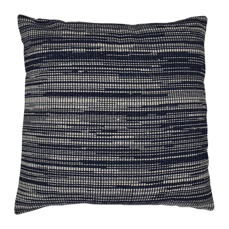 Hampton Cushion Cotton Navy/White Large