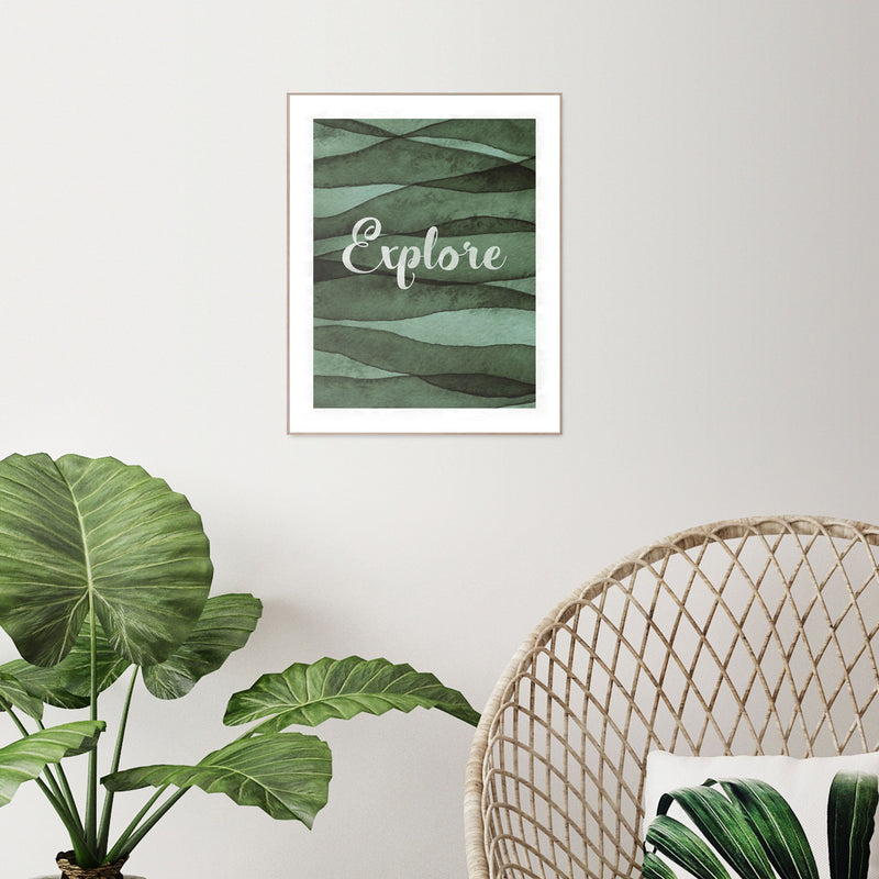 Explore Wall Art Slim Frame Wood