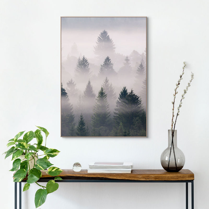 Misty Woods Wall Art Slim Frame Wood