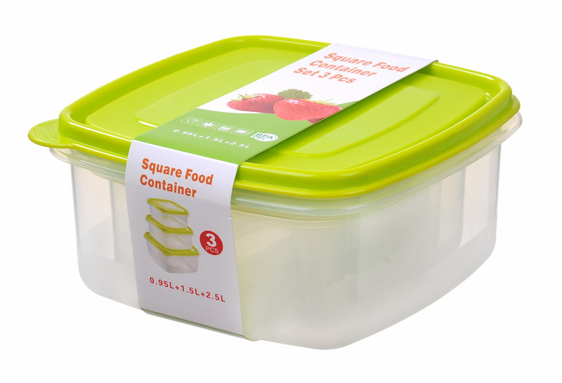 Nested Square Food Storage Container 3pc