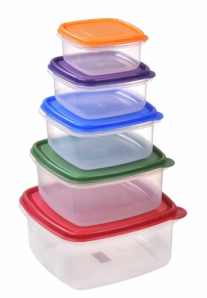 Nested Square Food Storage Container 5pc