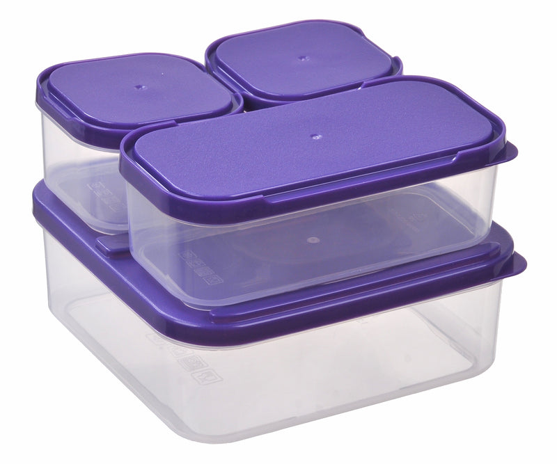 4-In-1 Food Storage Container 4pc