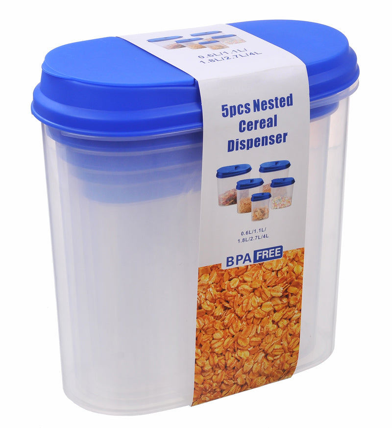 Nested Dispenser Food Storage Container 5pc