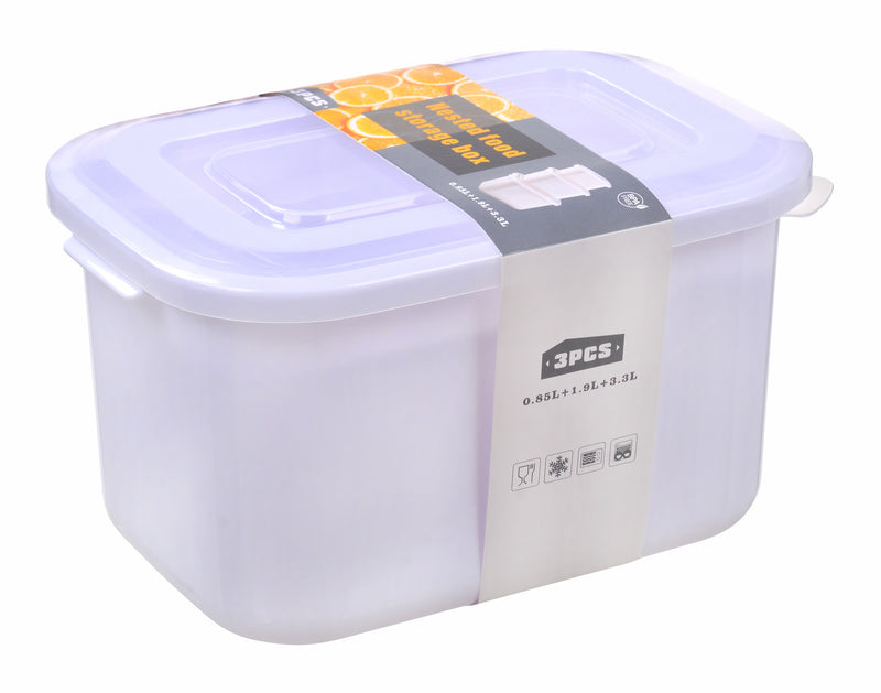 Nested Rectangle Food Storage Container 3pc