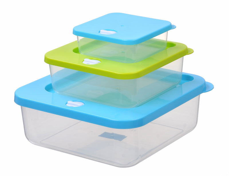 Stacked Square Food Storage Container 3pc
