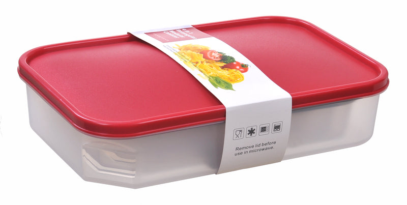Stack Rectangle Wide Food Storage Container 4pc