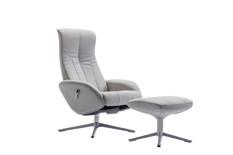 Maya Recliner & Footstool 205 Grey