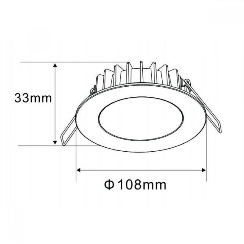 TDX SMD LED Downlight 12W Dimmable 10 Pack