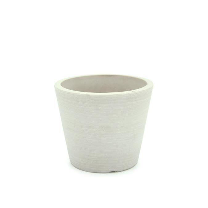Stonefusion Squat Cone Pot Mini White 10x8.2cm