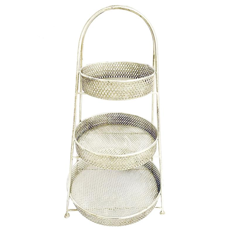 Pearl 3 Tier Stand Silver Wash