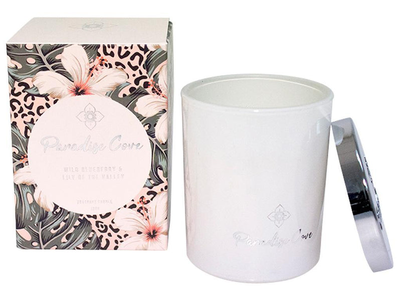 100G Paradise Cove Candle-Wild Blue Berry&Lily Of The Valley.