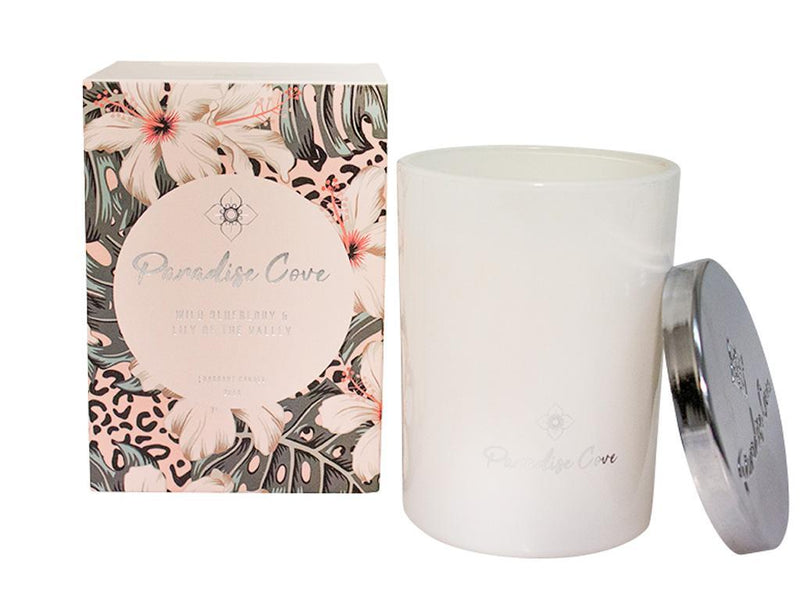 280G Paradise Cove Candle-Wild Blue Berry&Lily Of The Valley.