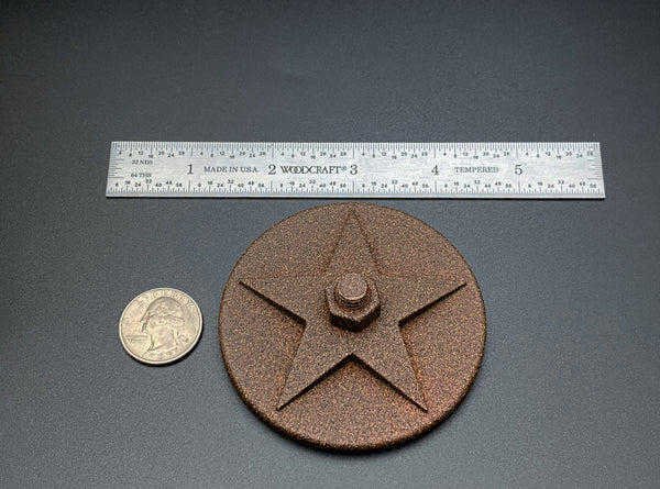 "Draper Star Fridge Magnet 3"" Diameter"