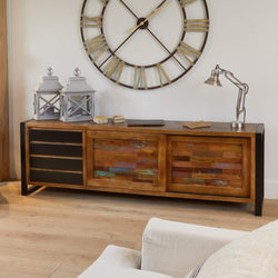 Shoreditch Long Four Drawer Sideboard - The Orchard Home and Gifts