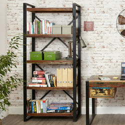 Shoreditch Large Five Shelf Open Bookcase - The Orchard Home and Gifts