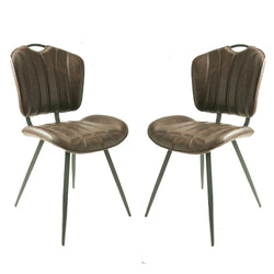 Austin Chesnut Brown Set of Two Dining Chairs