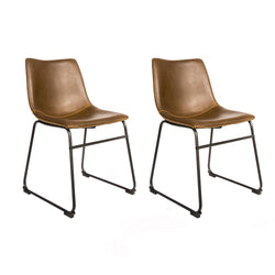 Dexter Chesnut Brown Set of Two Dining Chairs