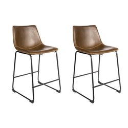 Dexter Chesnut Brown Set of Two Kitchen Counter Stools