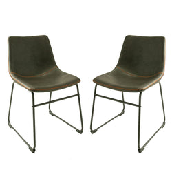 Dexter Grey Set of Two Dining Chairs
