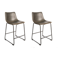 Dexter Grey Set of Two Kitchen Counter Stools