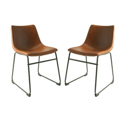 Dexter Tan Brown Set of Two Dining Chairs