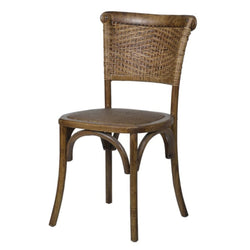 Elm Wood Rattan Dining Chair