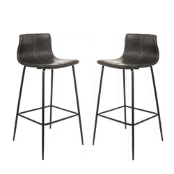 Grayson Grey Set of Two Kitchen Bar Stools