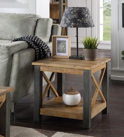 Harringay Reclaimed Wood Lamp Table / Side Table - The Orchard Home and Gifts