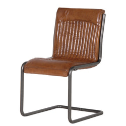 Italian Leather and Steel Office Chair