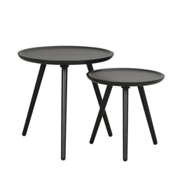 Lily Black Nest of Tables
