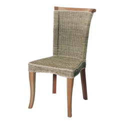 Sea Grass and Mahogany Dining Chair