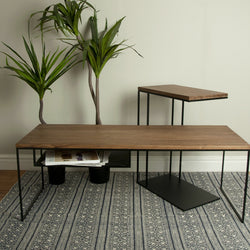 Selby Slim Coffee Table and Over Arm Lamp Table