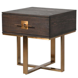 Tobacco Single Drawer Bedside Side Table