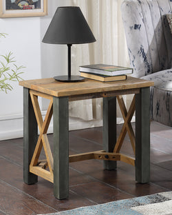 Harringay Reclaimed Wood Bedside Table / Lamp Table - The Orchard Home and Gifts
