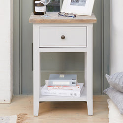 Ridley Grey One Drawer Lamp/Bedside Table - The Orchard Home and Gifts