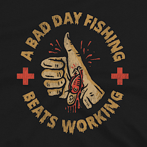 Funny bass fishing t-shirt design.