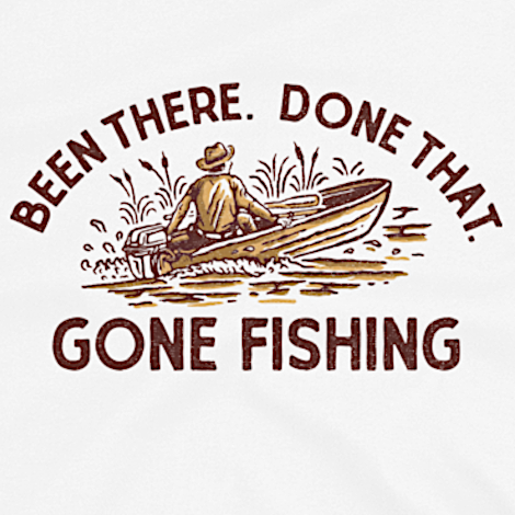Funny vintage fishing t-shirt design.