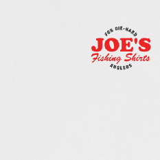 Long sleeve fishing shirt design with JOE'S Fishing Shirts logo.