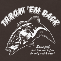 Bass fishing t shirt design with smallmouth bass jumping and text.